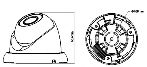 Hac Hdw2220Sp S2 0360B 1 - 2.4 Megapixel 1080P Water-Proof Ir Hdcvi Mini Dome Kamera