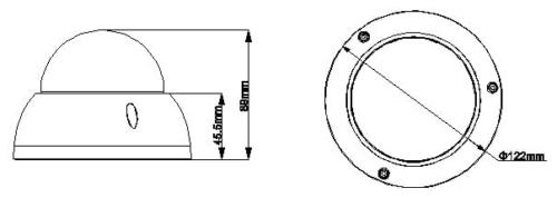Hac Hdbw2120R Vf Boyut 1 - 1.3Megapixel 720P Vandal-Proof Ir Hdcvi Dome Kamera