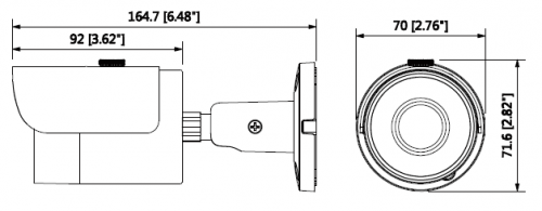 Hac Hfw1200Sp 0360B S3 1 - 2Mp Hdcvi Ir Bullet Kamera