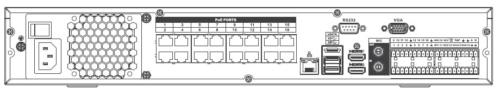Nvr5416 16P 4Ks2 Arka Panel 1 - 16 Kanal 1.5U 16Poe 4K Ve H.265 Pro Network Video Kaydedici