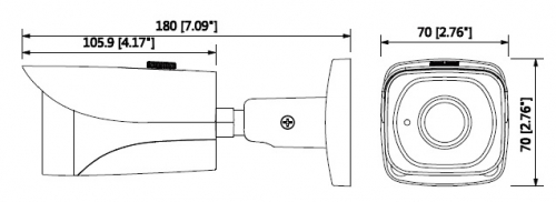Hac Hfw2401E Boyut 1 - 4Mp Hdcvi Wdr Ir Bullet Kamera