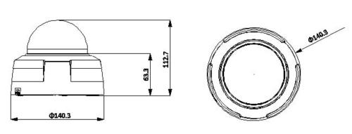 Hac Hdw3103 3 - 1.3 Megapixel 720P Ir Hdcvi Dome Kamera