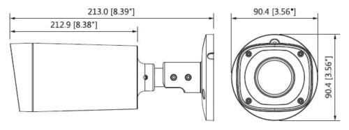 Hac Hfw2401R Z Ire6 Boyut 1 - 4Mp Wdr Hdcvi Ir Bullet Kamera