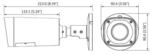 Hac Hfw1200Rp Vf Ire6 S3 3 - 2Mp Hdcvi Ir Bullet Kamera