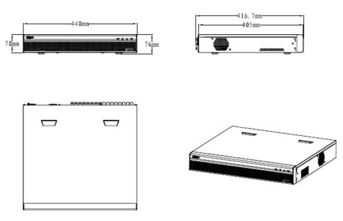 Xvr7416L 1 - 16 Kanal Penta-Brid 1080P 1.5U Dijital Video Kaydedici