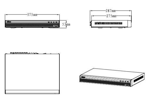 Xvr5232An Boyutlar 1 - 32 Kanal Penta-Brid 1080P Dijital Video Kaydedici