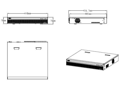Xvr5416L 1 - 16 Kanal Penta-Brid 1080P Lite 1.5U Dijital Video Kaydedici