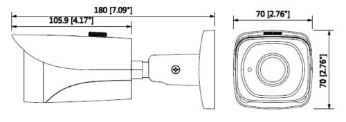 Hac Hfw2231Ep 0360B Boyutlar 1 - 2Mp Starlight Hdcvi Ir Bullet Kamera