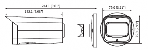 Ipc Hfw4231Tp Ase 0360B 1 - 2Mp Wdr Ir Mini Bullet Network Kamera