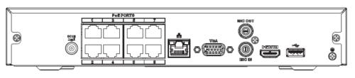 Nvr2108Hs 8P 4Ks2 - 8 Kanal Kompakt 1U 8Poe Lite 4K H.265 Network Video Kaydedici