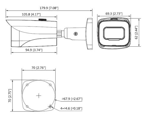 Boyutlar 6 - 4K Starlight Hdcvi Ir Bullet Kamera