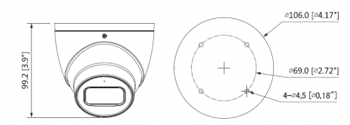 Boyutlar 8 - 4K Starlight Hdcvi Ir Eyeball Kamera
