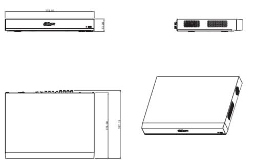 Boyutlar 7 - 16 Kanal Penta-Brid 4K 1U Dijital Video Kaydedici