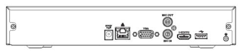 Arka Panel - 4 Kanal Kompakt 1U Lite 4K H.265 Network Video Kaydedici