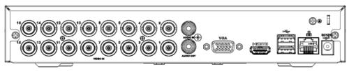 Arka Panel 3 - 16 Kanal Penta-Brid 1080N / 720P Kompakt 1U Dijital Video Kaydedici