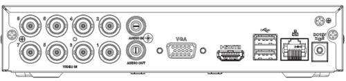 Arka Panel - 8 Kanal Penta-Brid 1080N / 720P Cooper 1U Dijital Video Kaydedici