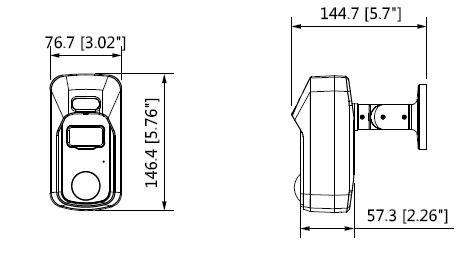 Boyutlar 1 - 2Mp Hdcvi Aktif Engelleyici Kamera