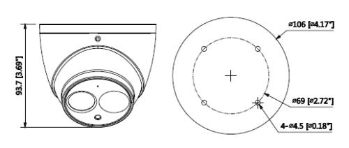 Boyutlar 7 - 8Mp Ir Eyeball Network Kamera