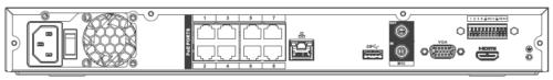 Arka Panel 1 - 8 Kanal 1U 8Poe 4K &Amp; H.265 Lite Network Video Kaydedici