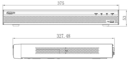 Boyutlar 1 - 8 Kanal 1U 8Poe 4K &Amp; H.265 Lite Network Video Kaydedici