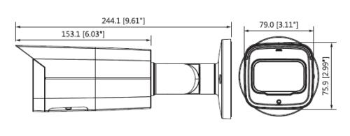 Boyutlar 1 - 8Mp Wdr Ir Mini Bullet Network Kamera