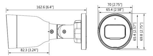 Boyutlar 1 - 2Mp Ir Mini-Bullet Network Kamera