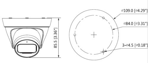 Boyutlar 3 - 2Mp Ir Turret Network Kamera